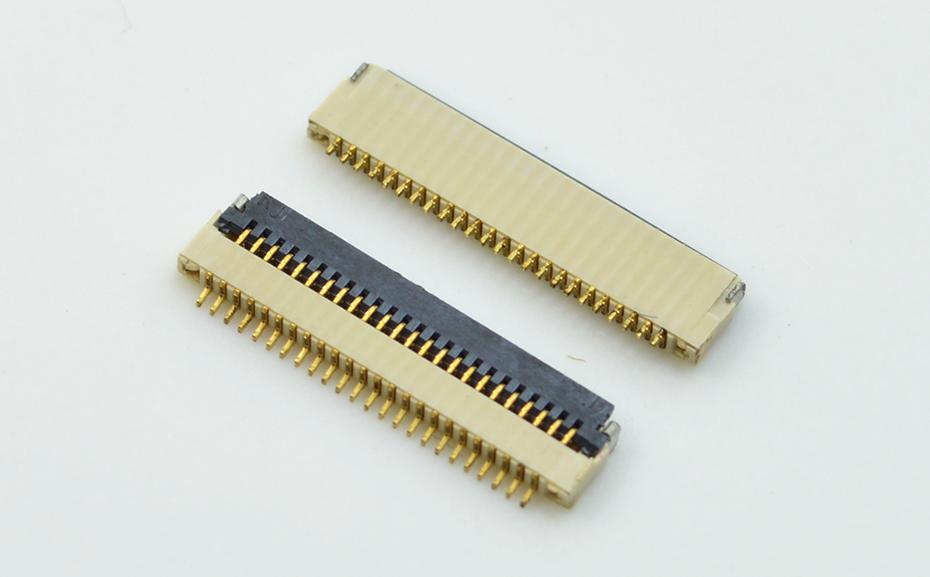 FPC连接器 铜-0.5mm fpc连接器fpc翻盖连接器-宏利