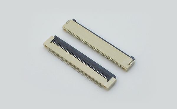 fpc连接器0.5mm间距H1.5厚翻盖式下接 封装规格书图纸 型号尺寸图 在线下载