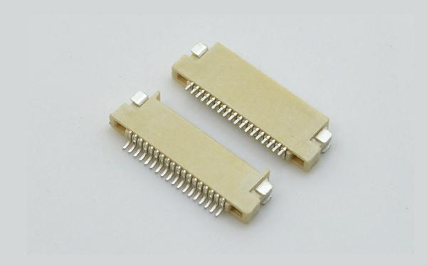 fpc连接器0.5mm间距H1.5厚双面接 封装规格书图纸 型号尺寸图 在线下载