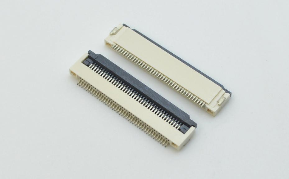 fpc连接器0.5mm间距H2.0厚翻盖下接 封装规格书图纸 型号尺寸图 在线下载