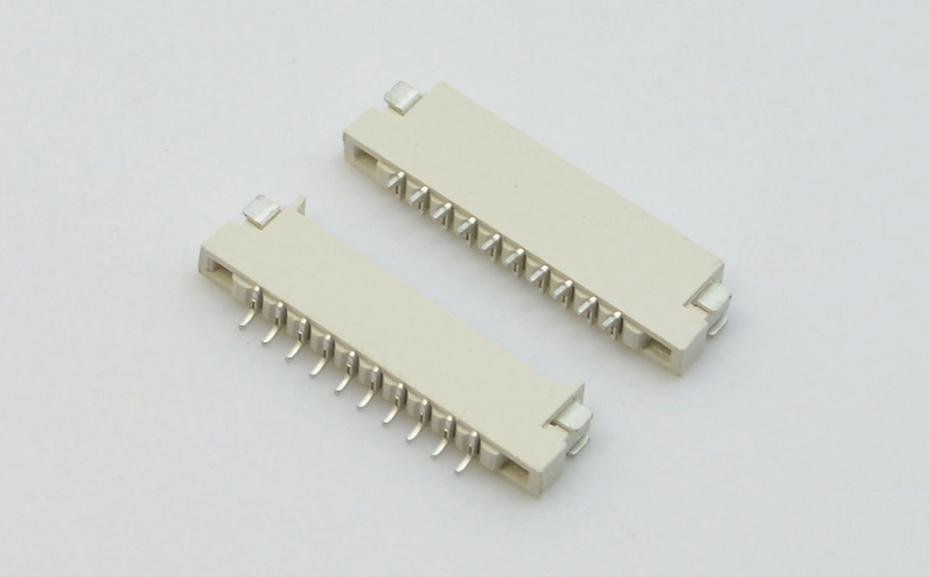 宏利供应国外1mm间距10pin上下双面接 H1.5高 FPC连接器