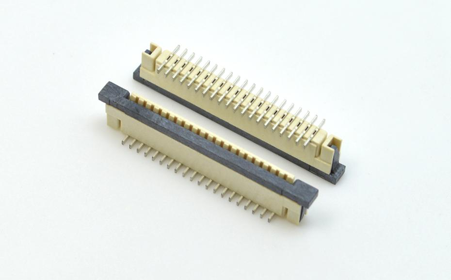 汽车级 fpc连接器-fpc连接器4p-fpc锁扣连接器-宏利