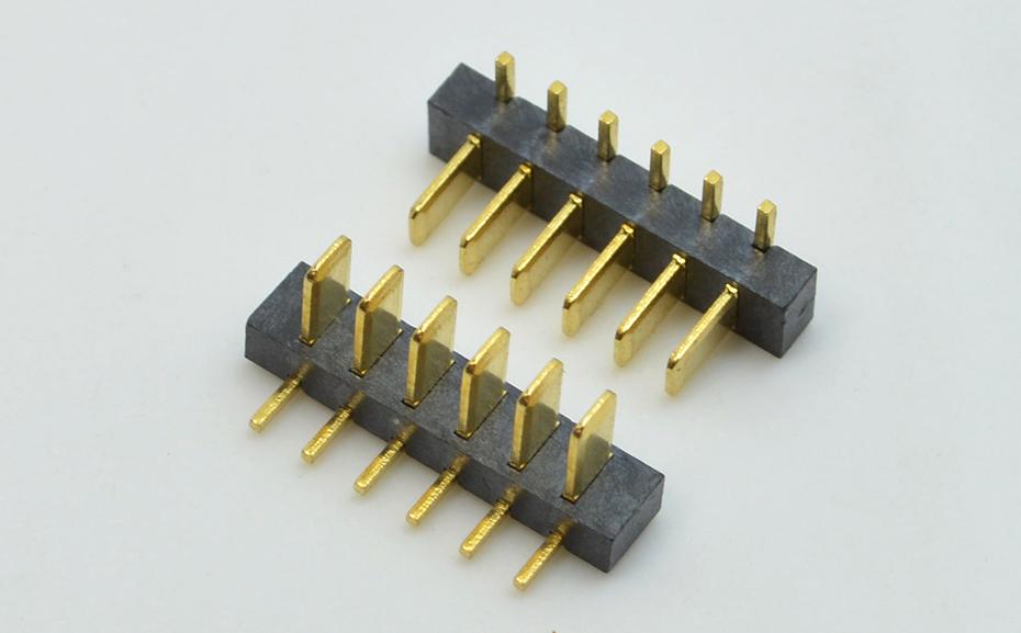宏利乐清条形大电流电池连接器 2.5mm间距电流公座小胶芯公母座对插连接器