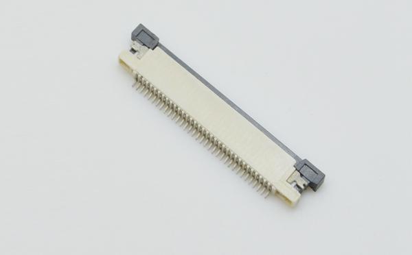 ffc/fpc连接器0.5mm间距抽屉式上接H1.2接插件