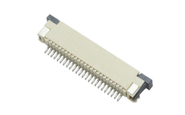 FFCFPC连接器间距0.8mm扁平软排线插座抽屉式上接