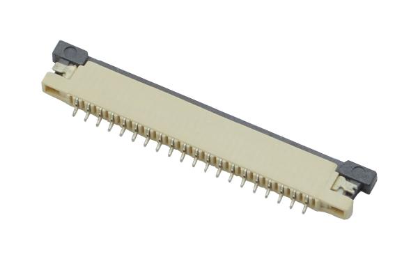 扁平电缆插座1.0MM间距H1.2上接超薄FFC连接器