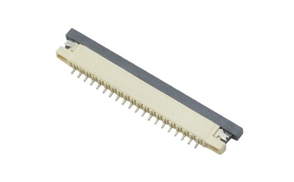 fpc连接器生产厂商-fpc连接器1mm下接fpc连接器-宏利