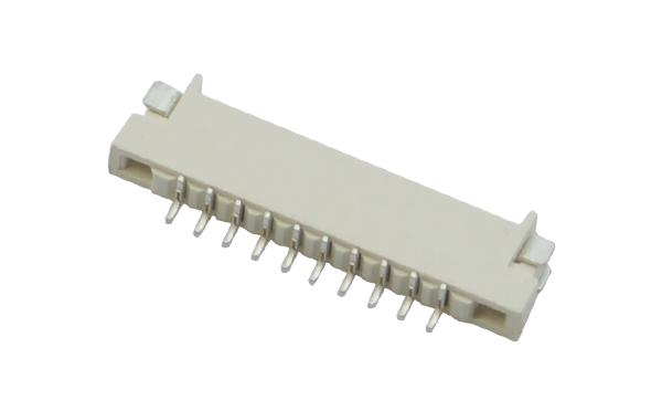 1.0MM上下接双面接H1.5高FPCFFC扁平电线接头连接器