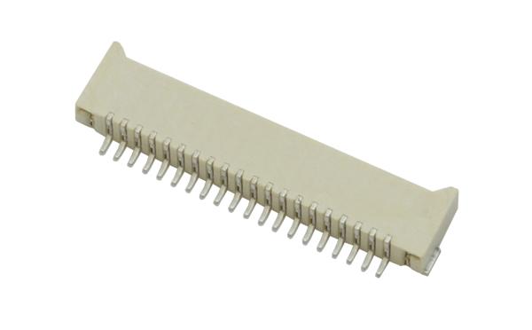 FPC1.0mm间距H2.0卧式贴片无锁双面接触连接器