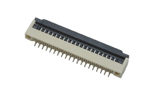 fpc针座连接器价格-1.0间距fpc连接器fpc 翻盖连接器-宏利