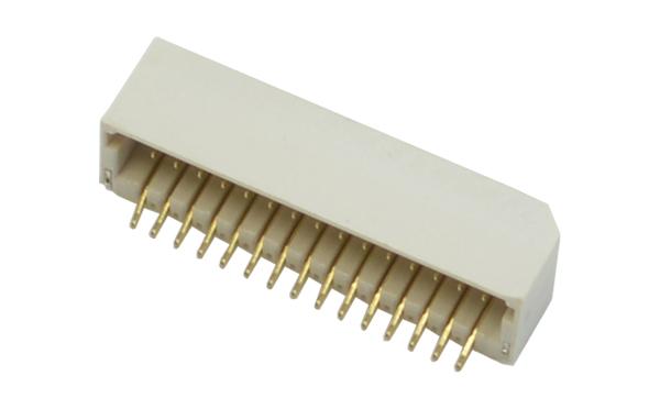 SHD插座1.0间距线对板立贴针座双排镀金端子连接器
