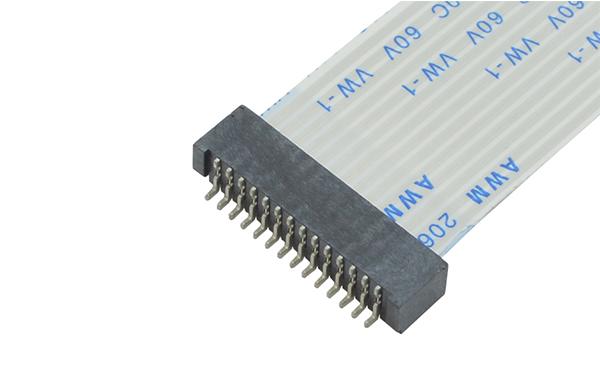 ffc/fpc接插件1.25mm双面接卧贴接线插座连接器