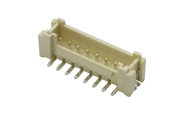 HY2.0MM立式贴片插座带扣带锁耐回流焊260高温连接器