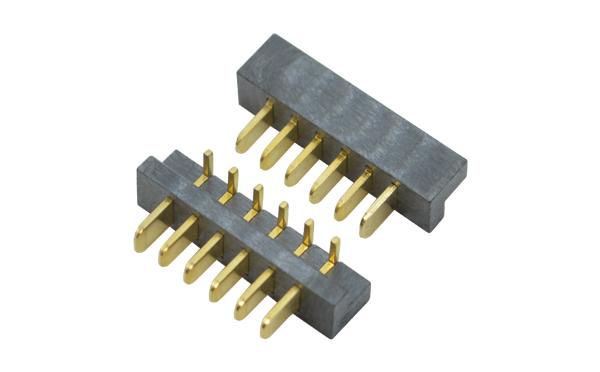 2.5mm间距90度侧插防呆笔记本电池大胶芯镀金公座