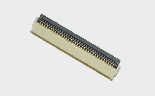 FFC/FPC0.5mm间距H1.0前插后掀连接器