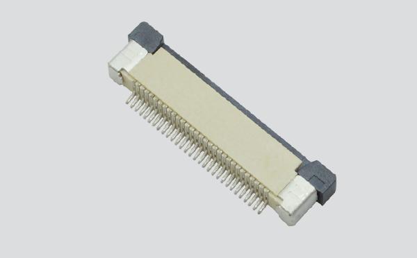 ffc/fpc排线座37pin抽屉式上接触0.5间距 H2.0厚PCB板贴片插座,宏利
