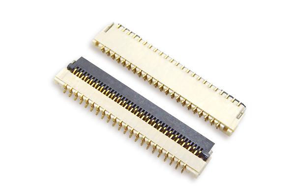 fpc连接器0.3mm间距H1.0厚翻盖下接 封装规格书图纸 型号尺寸图 在线下载